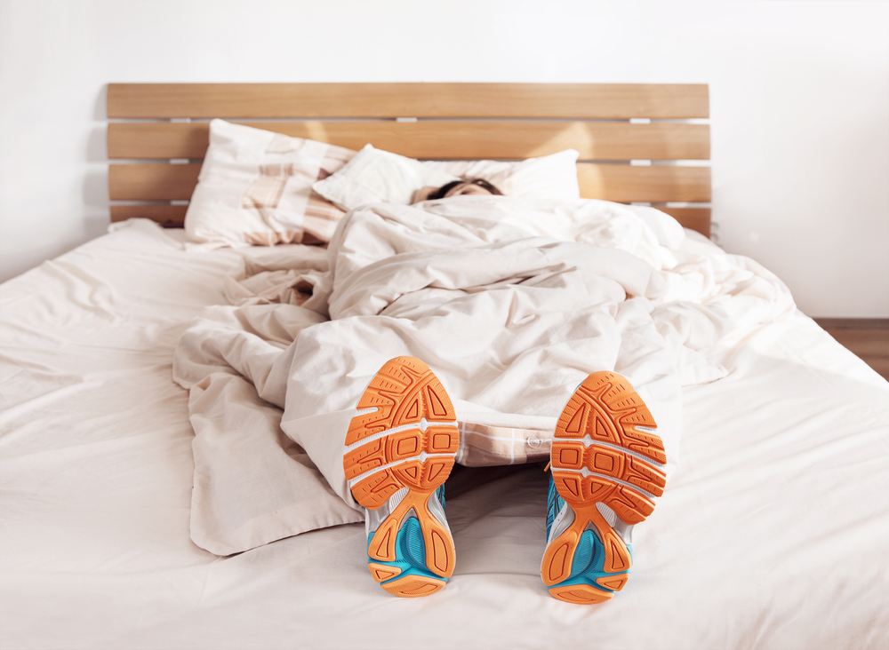 sleeping runner